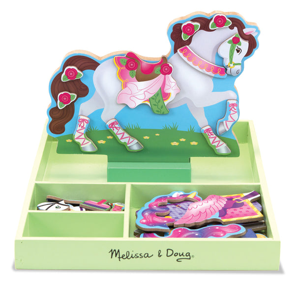 Melissa & Doug - My Horse Clover Magnetic Dress-Up | KidzInc Australia | Online Educational Toy Store
