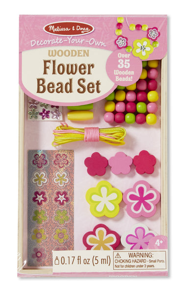 Melissa & Doug - Decorate Your Own Wooden Flower Bead Set | KidzInc Australia | Online Educational Toy Store