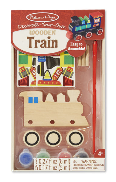Melissa & Doug - Decorate Your Own Wooden Train | KidzInc Australia | Online Educational Toy Store
