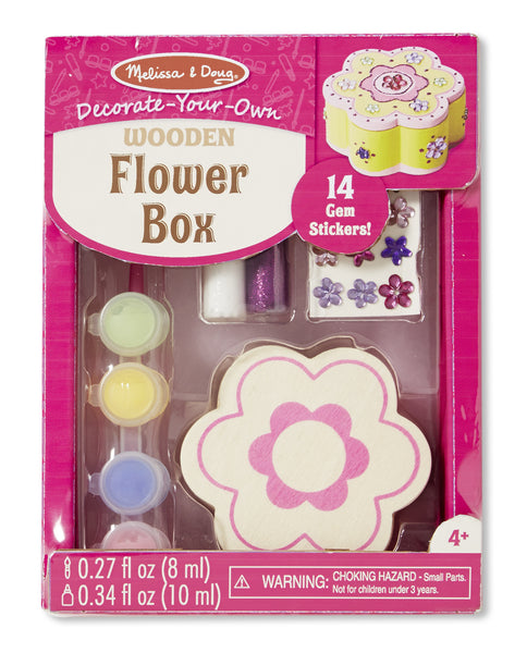 Melissa & Doug - Decorate Your Own Wooden Flower Box | KidzInc Australia | Online Educational Toy Store