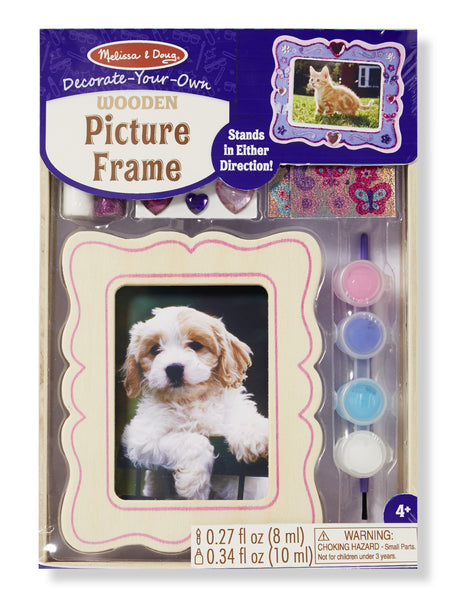 Melissa & Doug - Decorate Your Own Wooden Picture Frame | KidzInc Australia | Online Educational Toy Store