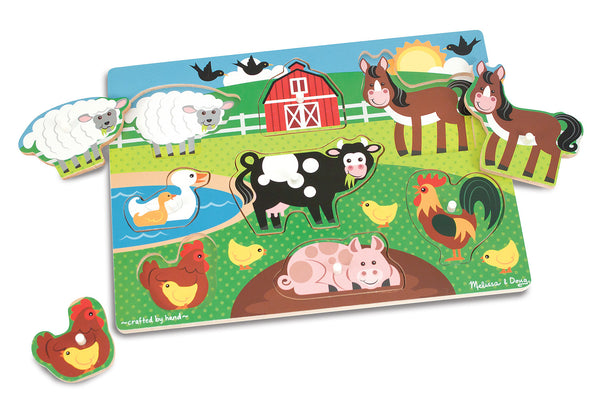 Melissa & Doug Peg Puzzle - Farm | KidzInc Australia | Online Educational Toy Store