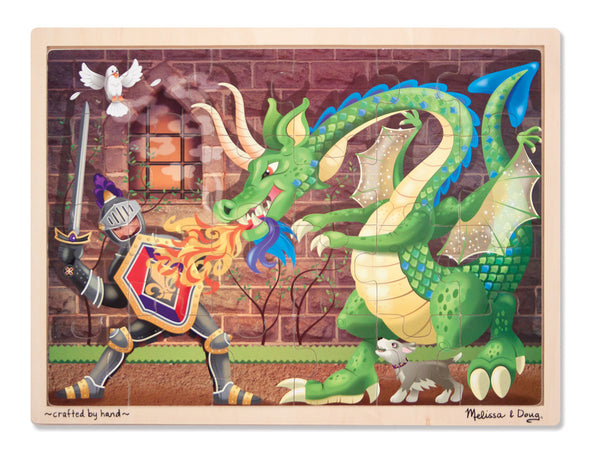 Melissa & Doug Puzzle 48 Pieces - Knight & Dragon | KidzInc Australia | Online Educational Toy Store