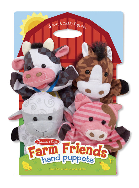 Melissa & Doug - Animal Hand Puppets: Farm Friends | KidzInc Australia | Online Educational Toy Store