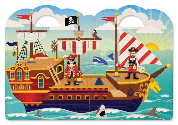 Melissa & Doug - Reusable Puffy Sticker Play Set - Pirate | KidzInc Australia | Online Educational Toy Store