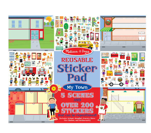 Melissa & Doug - Reusable Sticker Pad - My Town | KidzInc Australia | Online Educational Toy Store