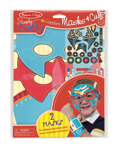 Melissa & Doug - Simply Crafty - Superhero Masks & Cuffs | KidzInc Australia | Online Educational Toy Store