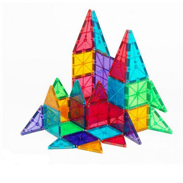 Magna Tiles Clear Colours 100 Piece | KidzInc Australia | Online Educational Toy Store
