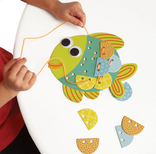 Manhattan Toy - Imagine I Can: Lace & Play Fish | KidzInc Australia | Online Educational Toy Store