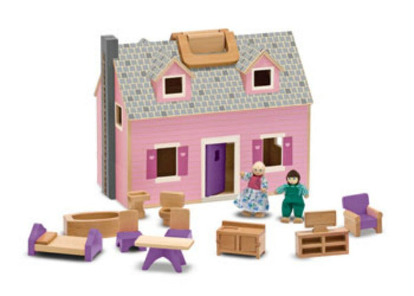 Melissa & Doug - Fold & Go Dollhouse | KidzInc Australia | Online Educational Toy Store