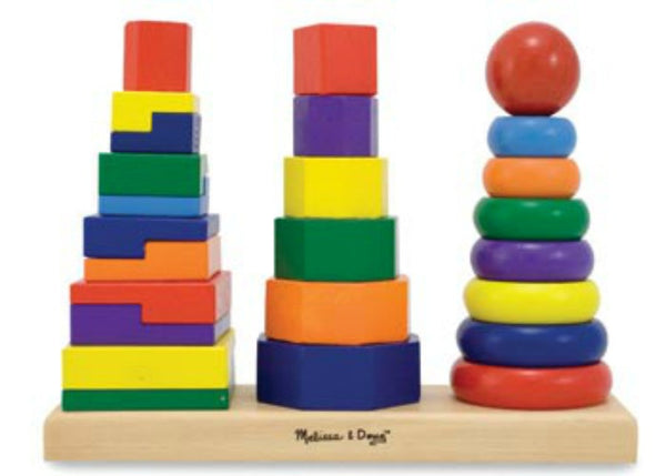 Melissa & Doug - Geometric Stacker | KidzInc Australia | Online Educational Toy Store