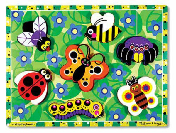 Melissa & Doug Chunky Puzzle - Insects | KidzInc Australia | Online Educational Toy Store