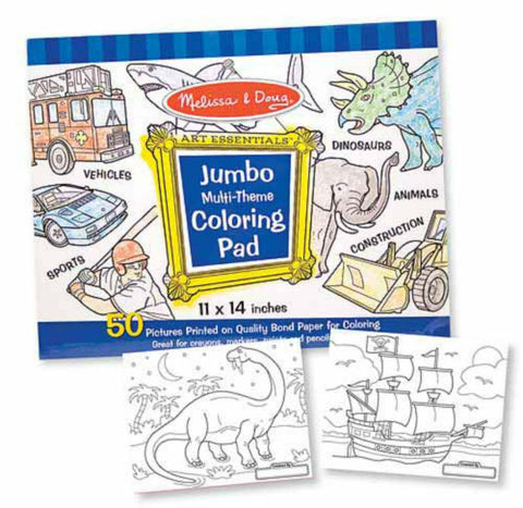 Melissa & Doug - Jumbo Coloring Pad - Blue | KidzInc Australia | Online Educational Toy Store