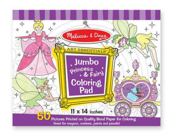 Melissa & Doug - Jumbo Coloring Pad - Princess & Fairy | KidzInc Australia | Online Educational Toy Store