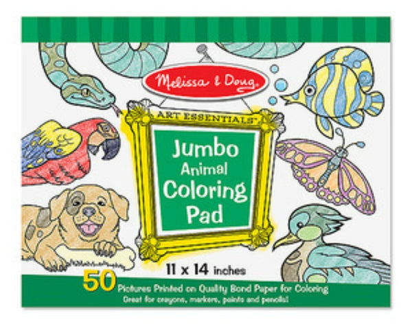 Melissa & Doug - Jumbo Colouring Pad - Animals | KidzInc Australia | Online Educational Toy Store