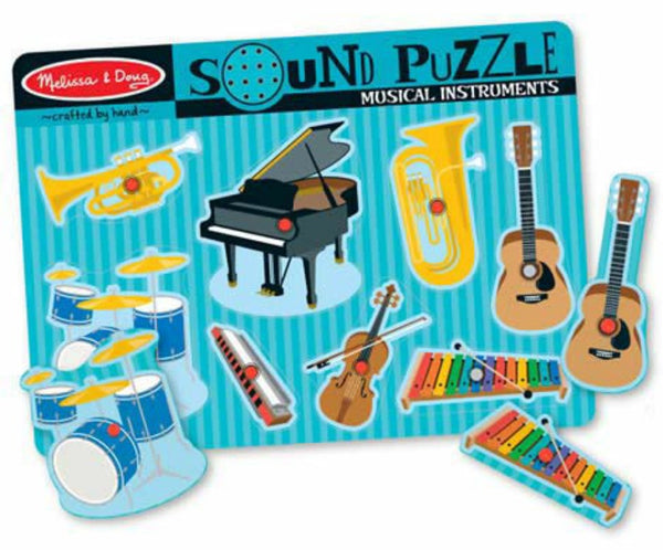 Melissa & Doug Sound Puzzle - Musical Instruments | KidzInc Australia | Online Educational Toy Store