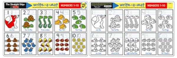 Melissa & Doug - Write-A-Mat: Numbers 1-10 | KidzInc Australia | Online Educational Toy Store