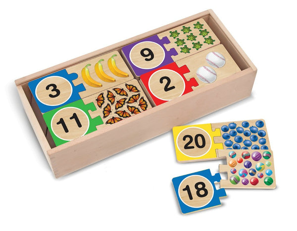 Melissa & Doug Puzzle Wooden Cards - Numbers | KidzInc Australia | Online Educational Toy Store