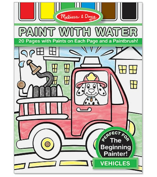Melissa & Doug - Paint with water - Vehicles | KidzInc Australia | Online Educational Toy Store