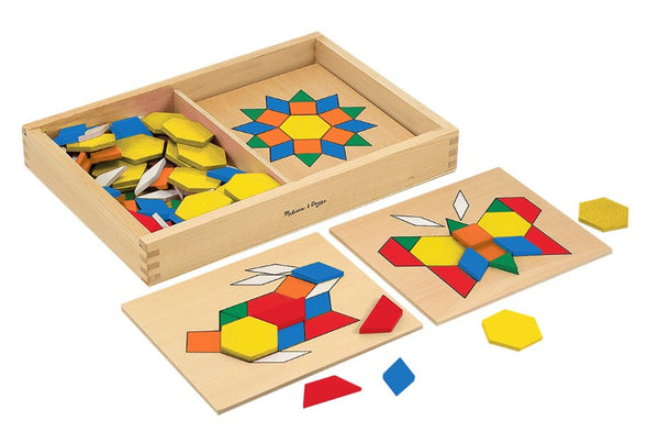 Melissa & Doug - Pattern Blocks and Boards | KidzInc Australia | Online Educational Toy Store