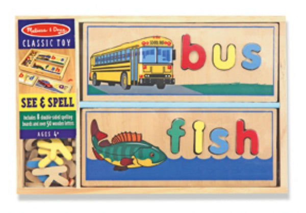 Melissa & Doug Puzzle - See & Spell | KidzInc Australia | Online Educational Toy Store