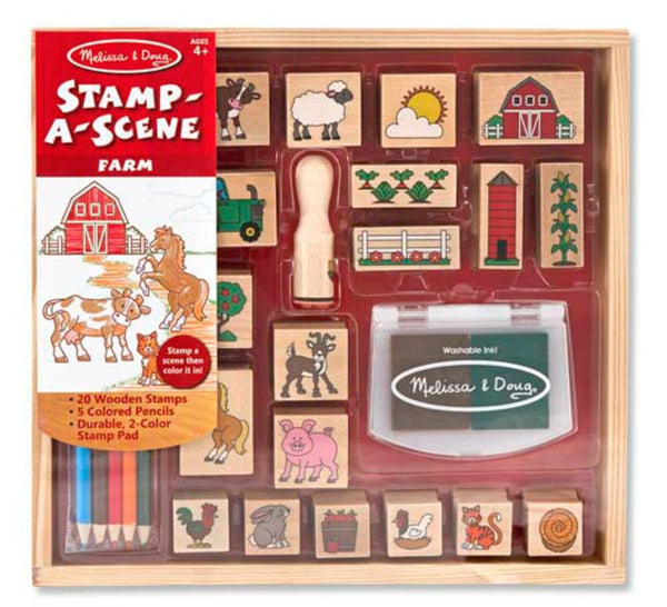 Melissa & Doug - Stamp A Scene - Farm | KidzInc Australia | Online Educational Toy Store