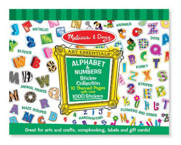 Melissa & Doug - Sticker Collection - Alphabet & Numbers | KidzInc Australia | Online Educational Toy Store