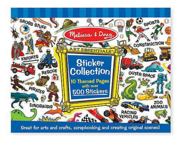 Melissa & Doug - Sticker Collection - Blue | KidzInc Australia | Online Educational Toy Store