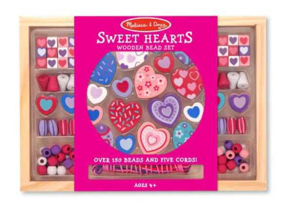 Melissa & Doug - Sweet Hearts Bead Set | KidzInc Australia | Online Educational Toy Store
