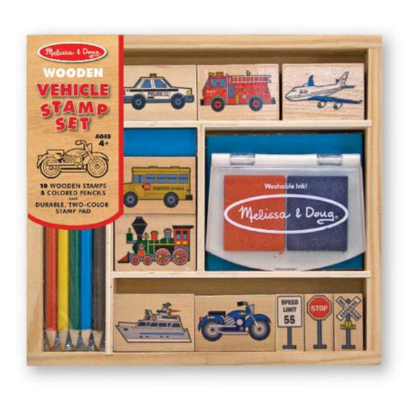 Melissa & Doug - Vehicle Stamp Set | KidzInc Australia | Online Educational Toy Store
