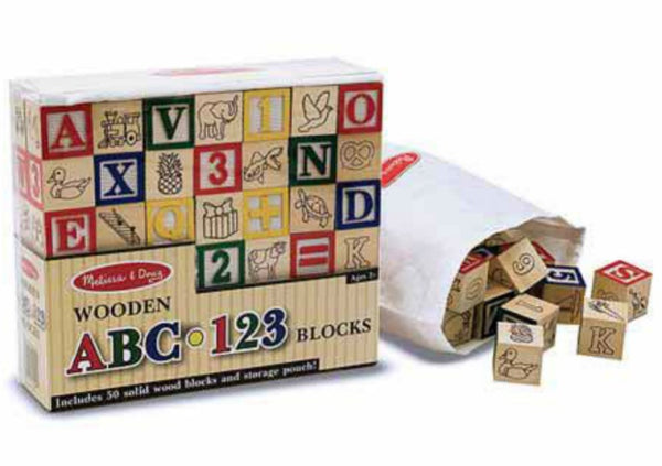 Melissa & Doug - Wooden ABC/123 Blocks | KidzInc Australia | Online Educational Toy Store