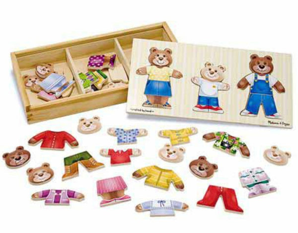 Melissa & Doug - Wooden Bear Family Dress-Up | KidzInc Australia | Online Educational Toy Store