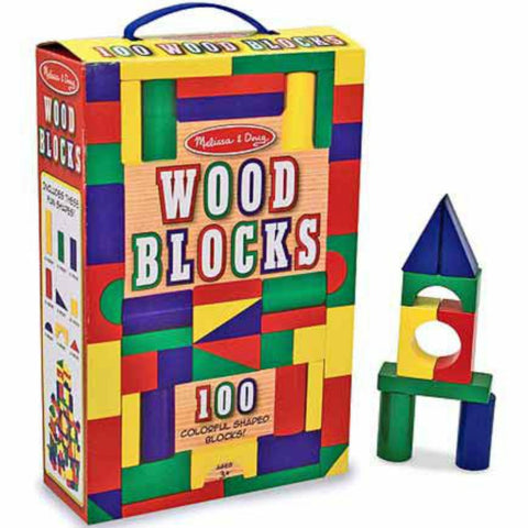 Melissa & Doug - 100 Wood Blocks Set | KidzInc Australia | Online Educational Toy Store
