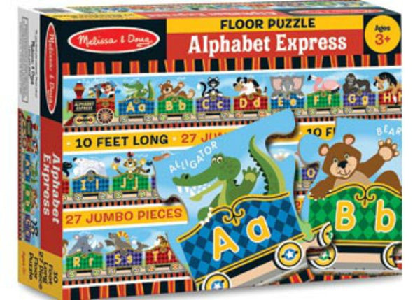 Melissa & Doug Floor Puzzle - Alphabet Express | KidzInc Australia | Online Educational Toy Store