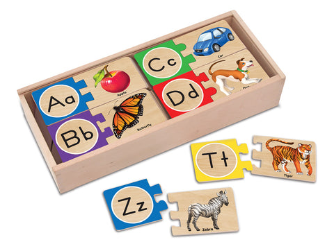 Melissa & Doug Puzzle Wooden Cards - Alphabet | KidzInc Australia | Online Educational Toy Store