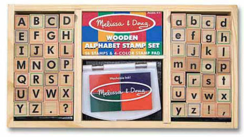 Melissa & Doug - Alphabet Stamp Set | KidzInc Australia | Online Educational Toy Store