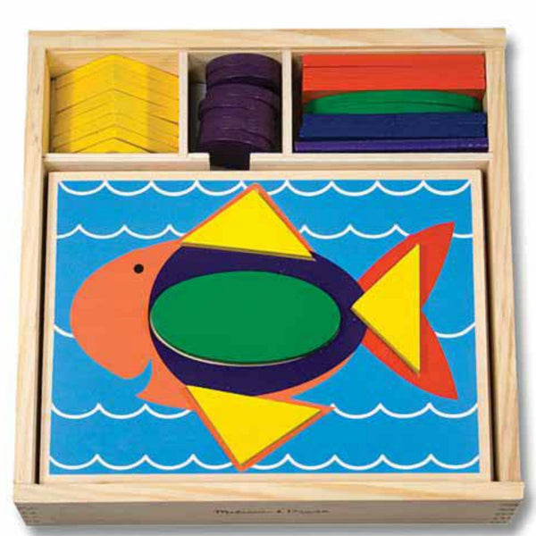 Melissa & Doug - Beginner Pattern Blocks | KidzInc Australia | Online Educational Toy Store