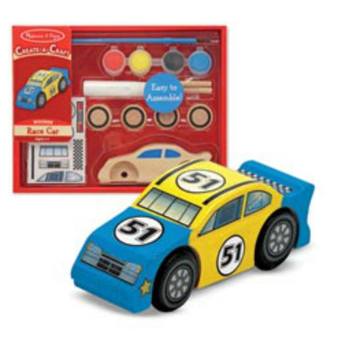 Melissa & Doug - Create-A-Craft - Wooden Race Car | KidzInc Australia | Online Educational Toy Store