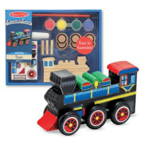 Melissa & Doug - Create-A-Craft - Wooden Train | KidzInc Australia | Online Educational Toy Store
