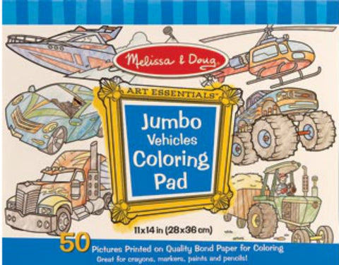 Melissa & Doug - Colouring Pad - Vehicles | KidzInc Australia | Online Educational Toy Store