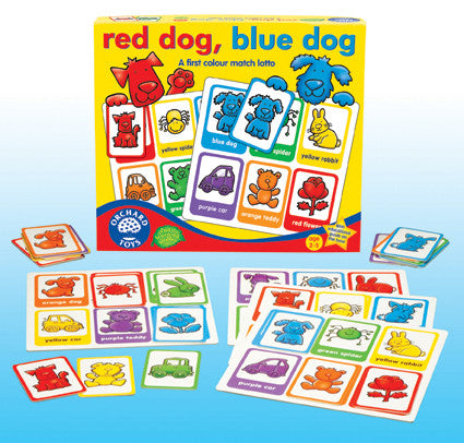 Orchard Toys - Red Dog Blue Dog Lotto | KidzInc Australia | Online Educational Toy Store