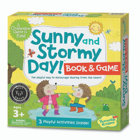 Peaceable Kingdom Sunny Stormy Day Book and Game | KidzInc Australia
