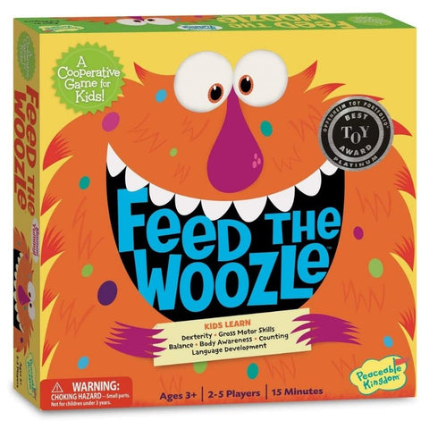 Peaceable Kingdom Feed The Woozle Preschool Game | KidzInc Australia