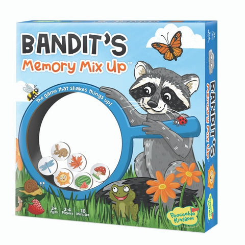 Peaceable Kingdom Game Bandits Memory Mix Up Game | KidzInc Australia