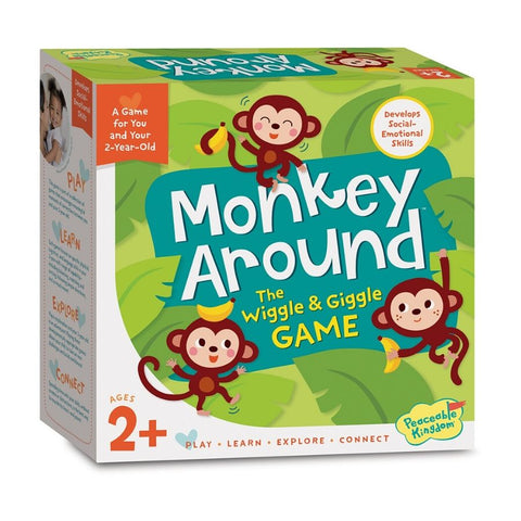 Peaceable Kingdom Game Monkey Around Game for Toddlers | KidzInc Australia