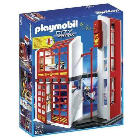 Playmobil – Fire Station With Alarm | KidzInc Australia | Online Educational Toy Store