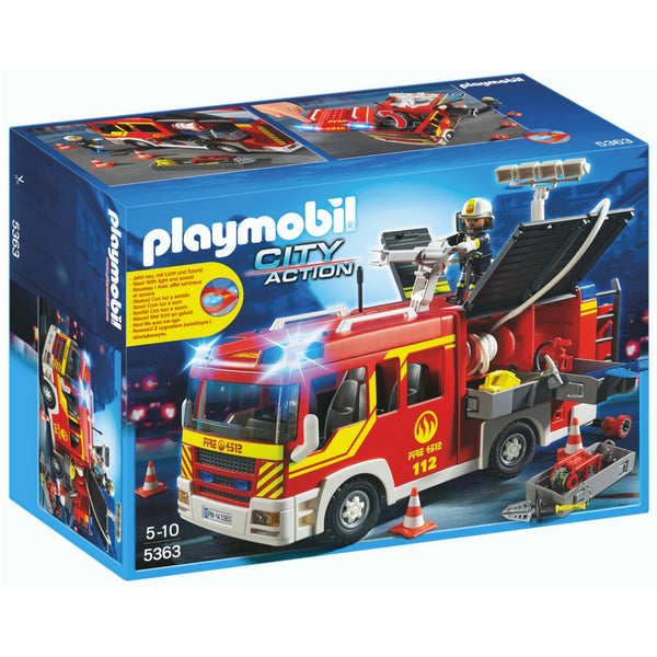 Playmobil – Fire Engine with Lights and Sound | KidzInc Australia | Online Educational Toy Store