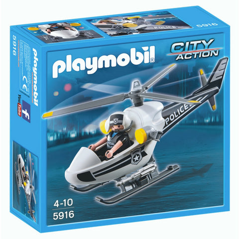 Playmobil - Police Copter | KidzInc Australia | Online Educational Toy Store