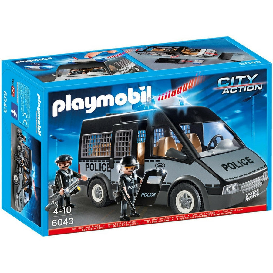 playmobil police van with lights and sound kidzinc australia online educational toy store - Playmobile Police