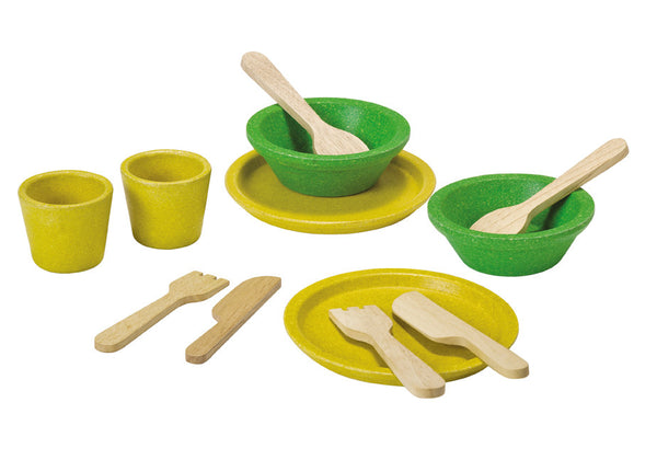Plan Toys - Tableware Set | KidzInc Australia | Online Educational Toy Store